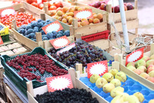 Fruits And Vegetables At The Farmer's Market