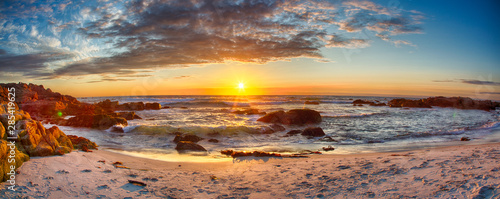 Foto op Plexiglas Zalm Sunset on 17 Mile Drive