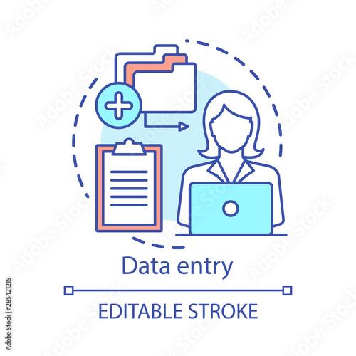 Photo Data entry concept icon
