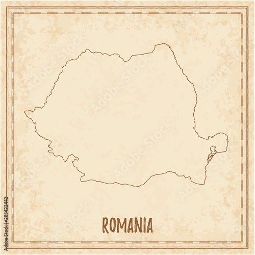 Photo  Pirate map of Romania