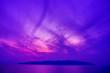 canvas print picture - 구름. 일몰. 컬러. 배경.