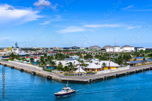 Bay of Water in Freeport City, Grand Bahama, Bahamas Canvas Print
