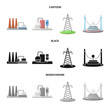 Isolated object of source and environment sign. Set of source and bio vector icon for stock.