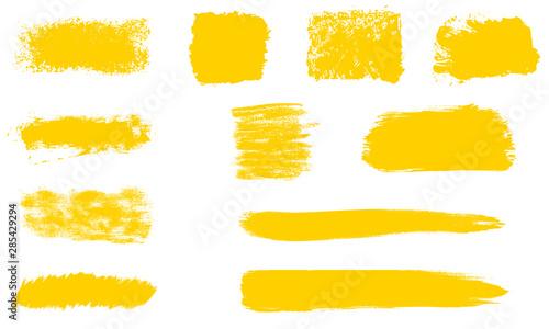 Photo Sammlung von 11 orangen Pinseltexturen