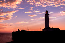 Silhouette Of Nash Point Light...