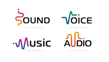 Sound Wave Icons Set. Music Wa...