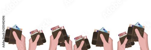 Photo Hand mit Portemonnaies