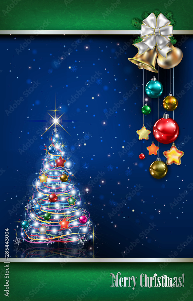 Fototapety, obrazy: Abstract background with Christmas decorations
