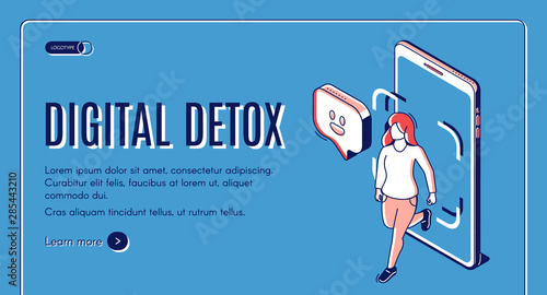 Fototapeta  Digital detox web banner