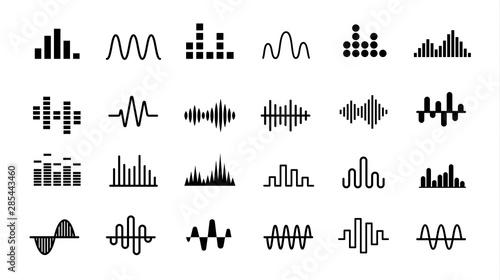 Fotografía  Set of Radio Wave icons