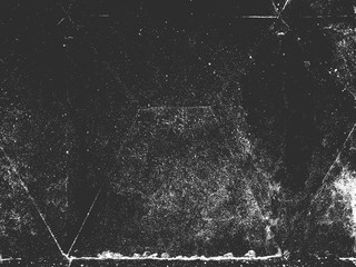 Distress old cracked concrete vector texture. Black and white grunge background. Stone, asphalt, plaster, marble.