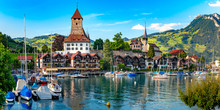 Spiez Church And Castle, Switz...