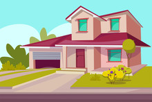 Residential House Flat Vector ...