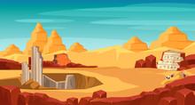 Archeology Flat Vector Illustration