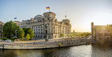 panoramic view at the government district in berlin - 285470613