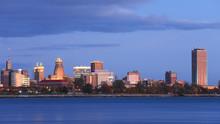 Buffalo City Center At Twilight