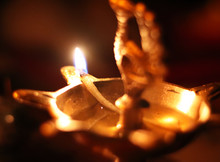 Indian Holy Light Flame Lamp