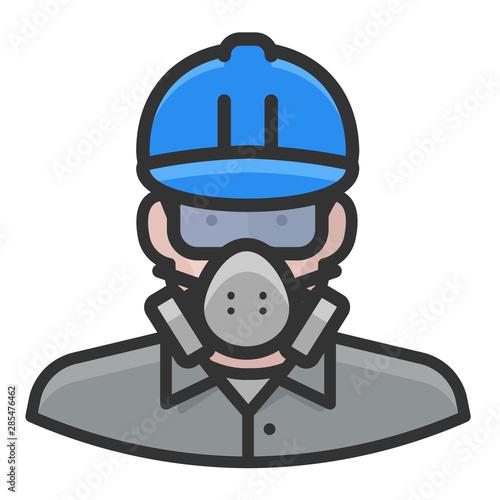 Photo asbestos worker white male avatar icon