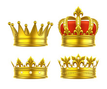 Isolated 3d King Crown Or Realistic Princess Tiara
