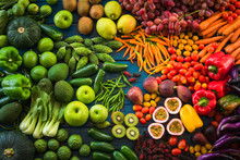 Different Fresh Fruits And Veg...