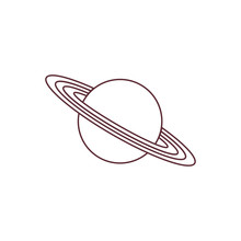 Vector Icon Planet Saturn With...
