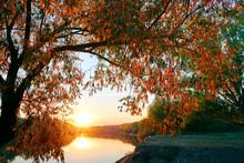 Beautiful Sunset In Autumn Sea...