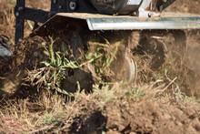 Rototiller Used In Yard