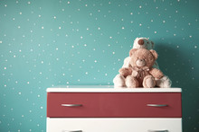 Teddy Bear In Living Room