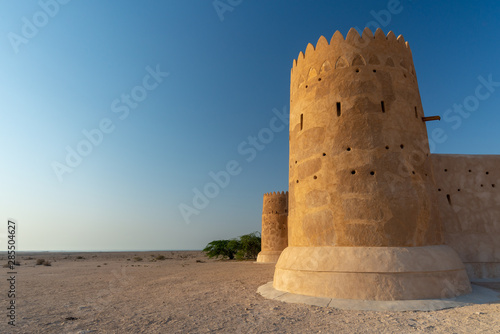 One of the towers of the Al Zubarah fort, Qatar Canvas Print