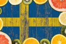 Sweden Food Concept. Fresh Fru...