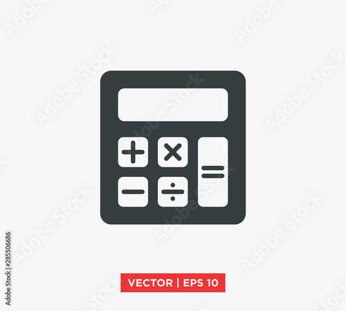 Cuadros en Lienzo  Calculator Icon Vector Illustration