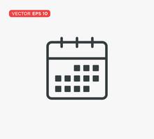 Calendar Icon Flat Vector Illu...