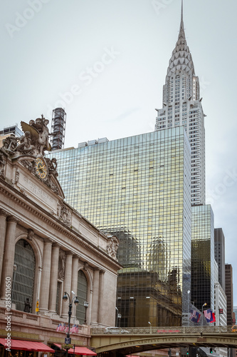 Photo Grand Central Terminal Station Facade and buildings. NYC, USA