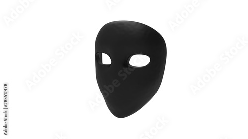 Fotografija  3d rendering of a mask isolated in white background