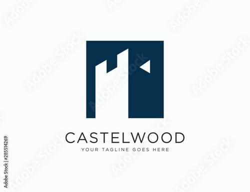 Castle Logo Template Icon Vector Illustration Fototapet