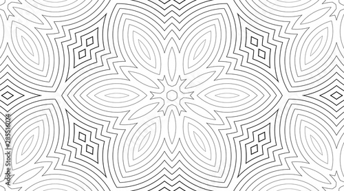 Foto auf Leinwand Künstlich Abstract wavy lines seamless pattern. Periodic oscillation of geometric shapes.