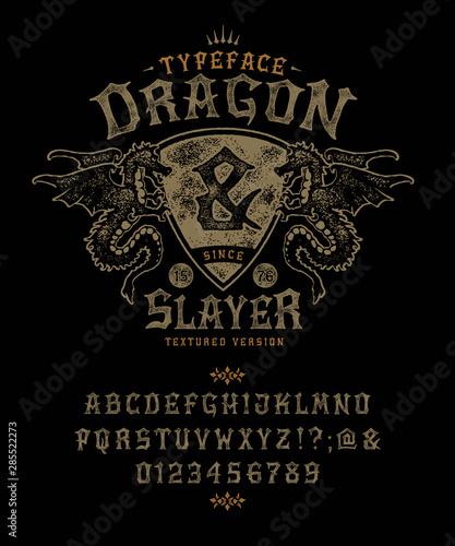 Font Dragon Slayer Wallpaper Mural
