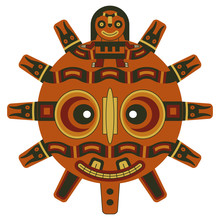 Ancient Peruvian Mask From Par...