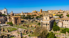 Ancient Forum Vesta Temple Regia Curia Rome Italy