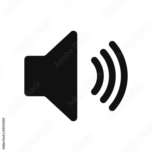 Speaker sound vector icon in modern design style for web site and mobile app - 285531690