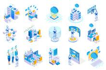 Robotic Interfaces Icon Set