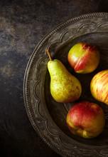 Still Life Of Pear And Nectari...