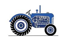 Illustration Of Vintage Blue T...