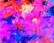canvas print picture - Oil painting art abstraction. Abstract background. Soft brushstrokes.