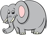 Fototapeta Child room - African elephant animal cartoon character