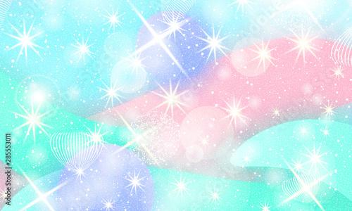 Fairy background. Unicorn pattern. Tableau sur Toile