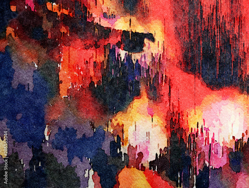 Colorful oil painting abstract art texture with brush strokes. Vintage Style background with space for text. Good for banner, design work and advertising or commercial. Can be printed in very big size