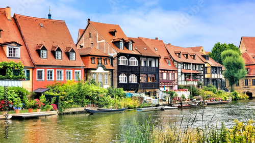 Fotografie, Obraz  Traditional river houses in the Old Town of Bamberg, Bavaria, Germany