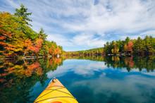 Kayak On Fall Lake