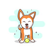 cute dog vector illustration,eps 10